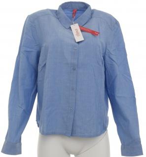 Sheego Damen Hemdbluse Bluse Shirt langarm blau 359335