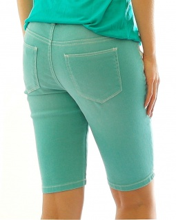 Rainbow Damen Jeans-Bermuda Stickerei kurze Hose Shorts Stretch aqua 923057 - Vorschau 2