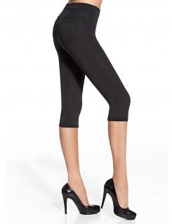 Capri Leggings Leggins 3/4 kurz Hose Stretch mit Taschen 200den Marika Short - Vorschau 4