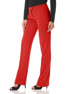 Laura Scott Damen Bügelfaltenhose Hose Chino Falten Stretch rot 569443