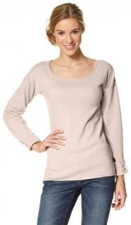 FLG Damen Pullover Shirt langarm Pulli Feinstrick Gr. 32/34 rosa 428436