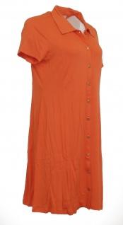 Heine Polokleid Kleid Polo Hemd Tunika kurzarm knielang orange 005860