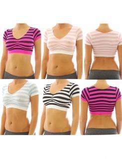 Top Shirt Sport BH Comfort Bluse Unterwäsche Hemd Shirt Bra Bustiers 2562