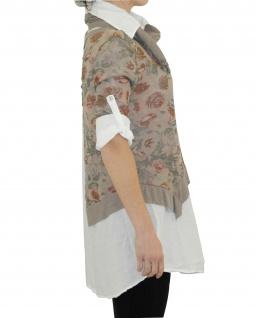 Hemd Shirt Tunika Poncho Bluse Tank TOP 3 Teile SET T-Shirt Halstuch Pulli - Vorschau 2