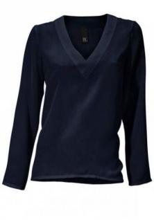 B.C. Damen Schlupfbluse Bluse Shirt langarm Tunika marine Gr. 34 088891