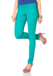 Laura Scott Damen Jeans-Leggings Hose lang Jeggings Stretch türkis 427490