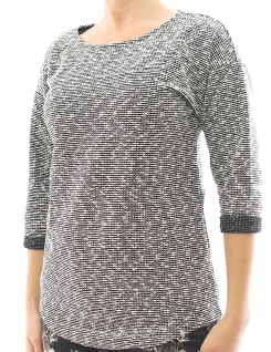Damen Shirt 3/4 Arm Bluse Tunika Pullover TP-221