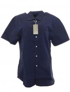 Class Damen Hemd kurzarm Shirt Bluse marine 41 608996
