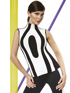 Fashion Top Bluse Shirt T-Shirt elastisch Stretch Mode Miley