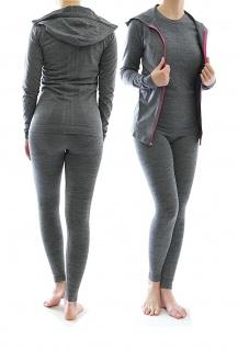 Damen Sportanzug 3-tlg Trainingsanzug Sport Fitness Jogging Anzug 9040-42