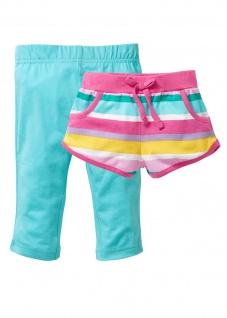 BPC Kinder Mädchen Shorts kurze Hose 3/4 Leggings Capri (2er-Pack) 964996