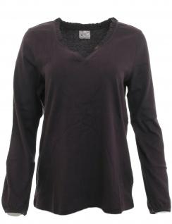 Your Life Fashion Damen Shirt langarm Bluse Tunika Pullover violett 44/46 716052