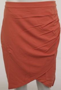 Heine Damen Wickelrock Rock Wickel Skirt Knielang orange 172915