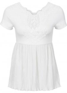 Bodyflirt Damen Shirt mit Spitze Falten Bluse Tunika kurzarm Gr. 32/34 944797 - Vorschau