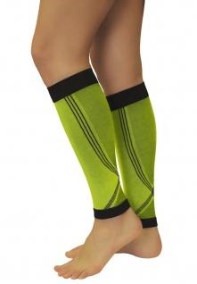 Elastische Sport Kompressions Stulpen Sleeves Strümpfe Beine Laufen 0408-01 - Vorschau 3