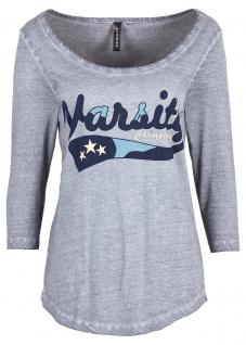 Rainbow Damen Shirt 3/4 Arm Bluse Tunika Aufdruck grau Gr. 40/42 929870