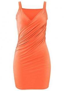 Beach Time Damen Strandkleid Kleid Sommerkleid Top Wickel Optik apricot 567300