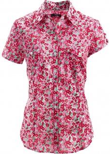 BPC Damen Bluse Hemd kurzarm Shirt Blumen-Muster Gr. 36 936003