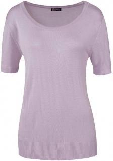 Chillytime Kurzarmpulli Pullover Kurzarm Feinstrick Pulli T-Shirt flieder 280111