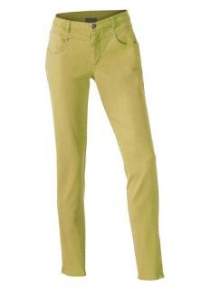 B.C. Damen Jeanshose Colour Denim Chino Röhre Hose Pistazie 002066
