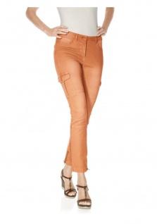 B.C. Damen Cargohose Hose Cargo Jeans Chino Stretch orange Gr. 42 133228