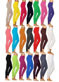 Damen lange Leggings Leggins lang Baumwolle Hose Röre Herren Wäsche Hautdeckend