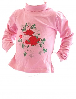 Kinder Mädchen Rollkragenpullover Shirt Langarm Pullover Rosen BFL-HN-02 - Vorschau 4