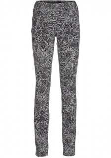 B.C. Damen Druck-Cord-Leggings Hose lang Blumen-Print Leggins Stretch 043263