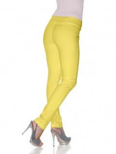 B.C. Damen Jeans-Leggings Hose lang Leggins Röhre Stretch gelb 022084 033795