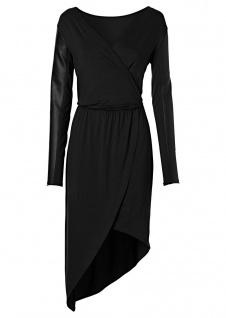 Rainbow Damen Kleid asymmetrisch Wickelkleid Abendkleid schwarz 32/34 972885