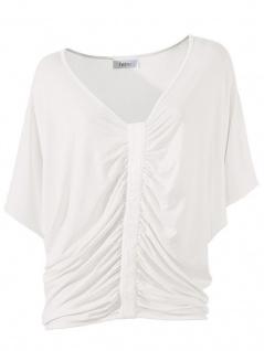 Heine Oversize Shirt Bluse Tunika T-Shirt Raffung weiß 040720