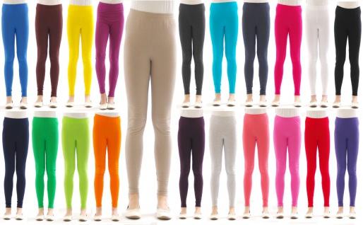 Kinder Mädchen Leggings Leggins lang blickdicht Wäsche aus Baumwolle Hose