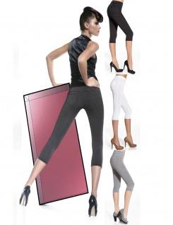 Capri Leggings Leggins 3/4 kurz Hose Stretch mit Taschen 200den Marika Short - Vorschau 1