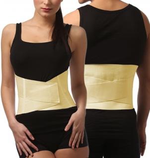 Rücken-Bandage Rücken-Stütze Schienen Klettverschluss Lendenwirbelsäule 0012 - Vorschau 3