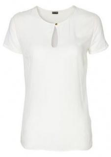 Bodyflirt Damen Bluse Shirt T-Shirt Top Tunika Kurzarm Schlitz ecru 979742