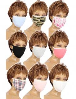 Maske für Gesicht Mund Nase Staubmaske Gesichtsmaske Baumwolle Schutz