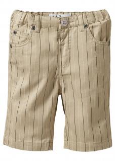 John Baner Kinder festliche Bermuda kurze Hose Shorts Streifen beige 916353