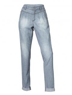 B.C. Damen Jeans Hose Jeanshose Bundfalten Stretch Chino bleached 085573
