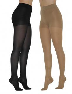 Strumpfhose matt Figurformend 180den Beige Schwarz