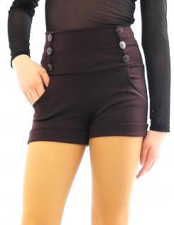 Shorts hoher Bund mit Taschen seitlich Taille kurze Hose Hot Pants Mini - Vorschau 3