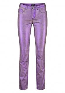 Laura Scott Damen Röhrenhose Hose Jeans Glanz Röhre Stretch lila 686180 - Vorschau 4