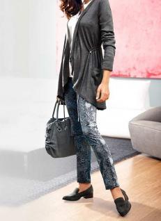 B.C. Damen Druck-Leggings Druckhose Hose Gummibund Polyester blau grau 026120 - Vorschau 2