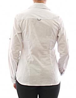 Damen Bluse Hemd Langarm Shirt Tunika Business Weiss Baumwolle 273 - Vorschau 3