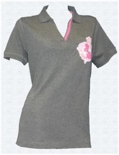 Joe Browns Damen Poloshirt Longshirt Polo Shirt Bluse Tunika grau melange 392382