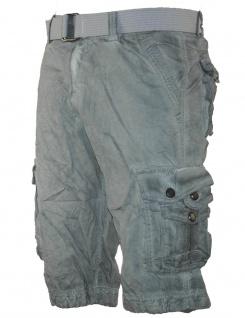 Herren kurze Hose Jeans lange Shorts Bermuda Cargo Caprihose mit Gürtel XH-22817 - Vorschau 4
