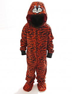 Kinder Schlafanzug warm Animation Jumpsuit Overall Tiere Nachtwäsche Store-21-F - Vorschau 2