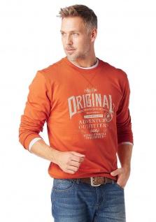 Grey Connection Herren Sweatshirt Pullover Pulli Shirt Aufdruck orange 669381 - Vorschau