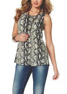 Melrose Damen Top Tank Tanktop Shirt bedruckt Ärmellos Polyester Gr. 36 532952
