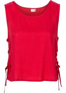 Bodyflirt Blusentop Schnürung Shirt Top Bluse Tunika ärmellos rot Gr. 40 928355 - Vorschau