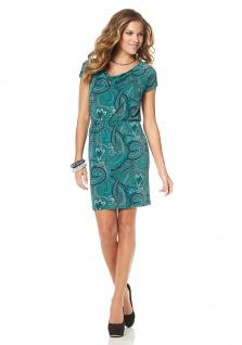 Jessica Simpson Paisleykleid Wasserfall Kleid Mini Paisley Gummizug Gr. S 794755